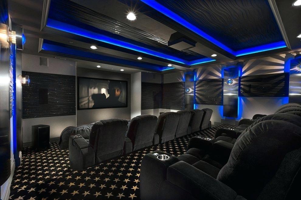 Home Theater Wallpaper Salt Lake City Cinema Contemporary