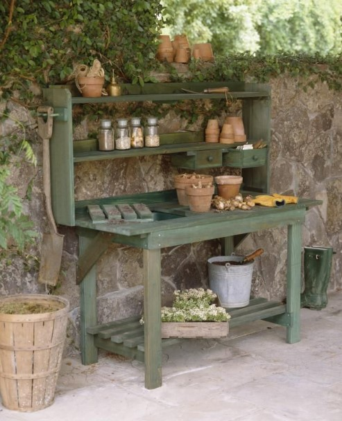horrible unique potting benches #pottingbenchideas #benchdesign #pottingbench #benchideas