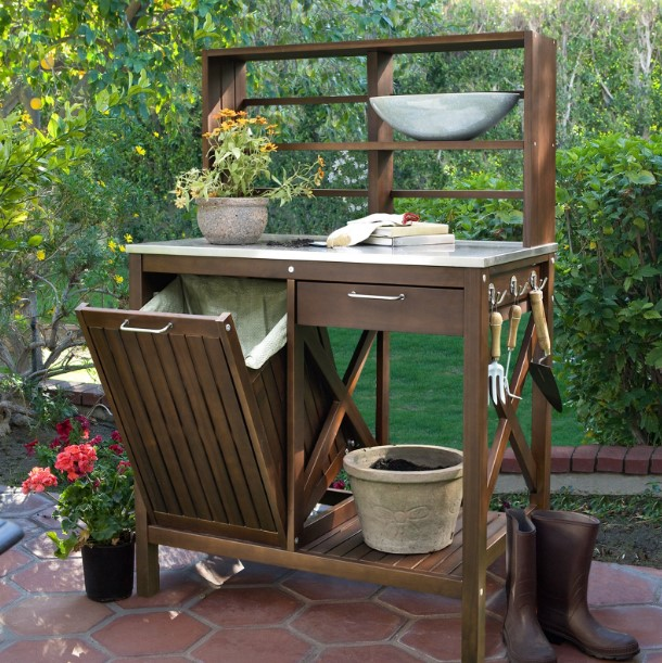 wonderful target potting bench #pottingbenchideas #benchdesign #pottingbench #benchideas