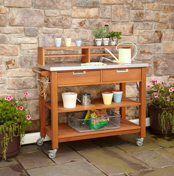 alarming wall mounted potting bench #pottingbenchideas #benchdesign #pottingbench #benchideas