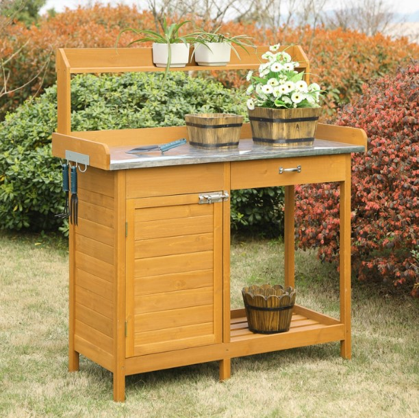 awe-inspiring vinyl potting bench #pottingbenchideas #benchdesign #pottingbench #benchideas
