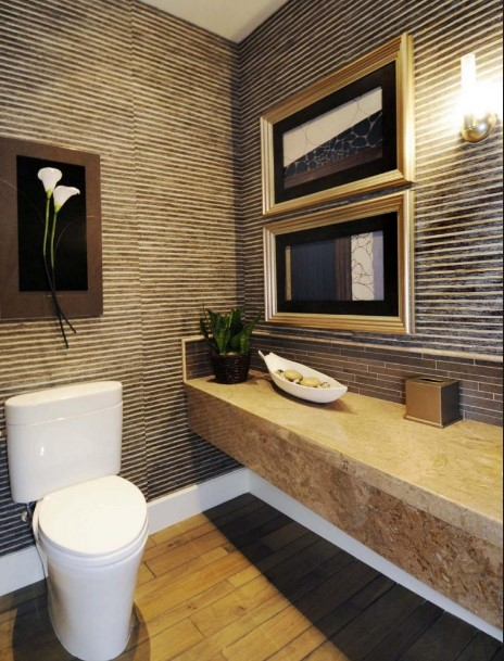 magnificent very small powder room #halfbathroomideas #halfbathroom #bathroomideas #smallbathroom