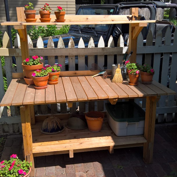 breathtaking vintage potting bench for sale #pottingbenchideas #benchdesign #pottingbench #benchideas