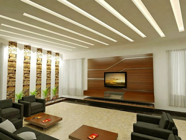30 latest false ceiling design for rectangular living room - Latest ceiling design for living room ...
