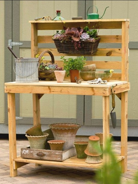 shocking teak potting bench #pottingbenchideas #benchdesign #pottingbench #benchideas