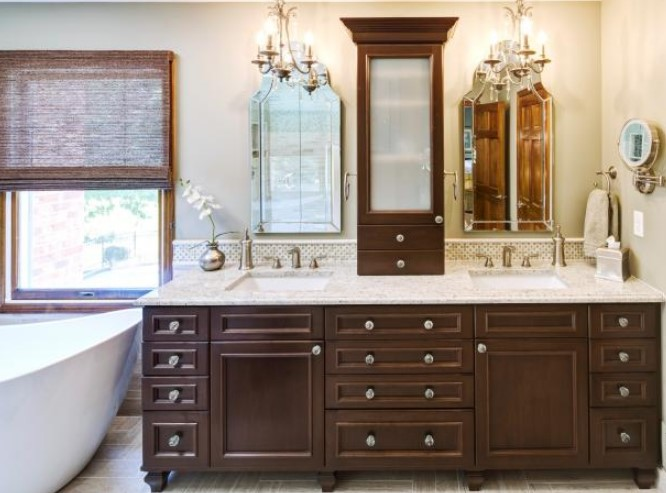Double Sinks Master Bathroom. Amazing Bathroom Vanity Design Ideas