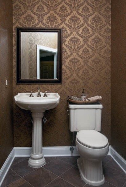 imposing toilet inspiration #halfbathroomideas #halfbathroom #bathroomideas #smallbathroom