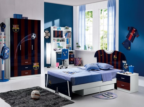 Football Themed Area. Cool And Awesome Boys Bedroom Ideas ...