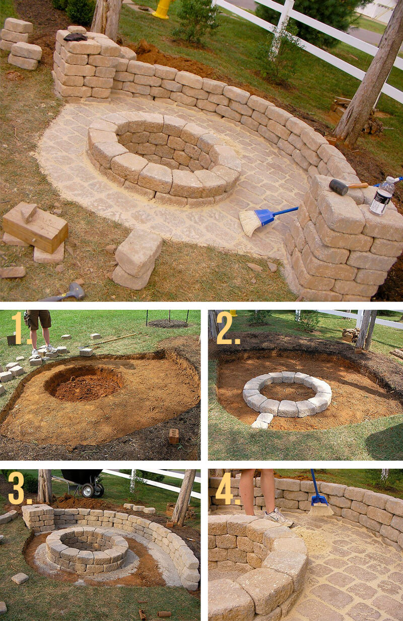 50 Diy Fire Pit Design Ideas Bright The Dark And Fire The
