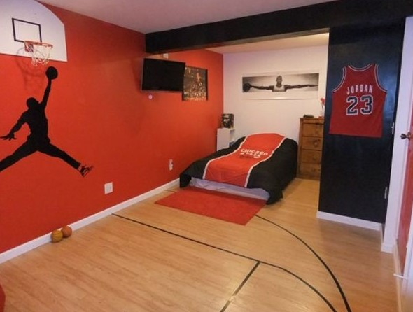 Basketball Themed Bedroom. Cool And Awesome Boys Bedroom Ideas ...