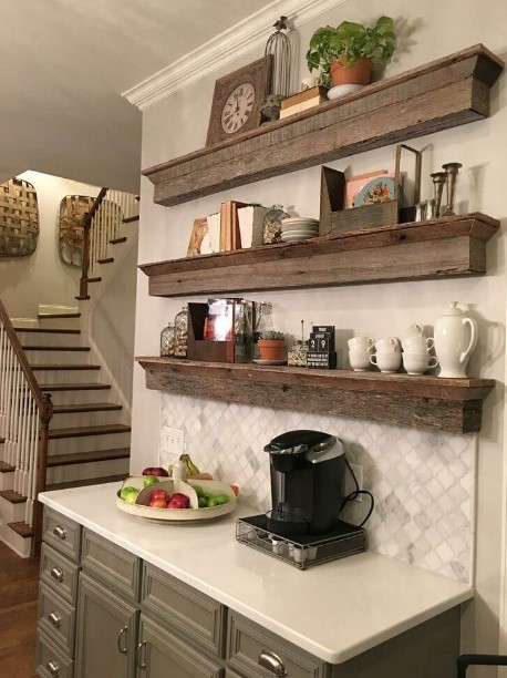 Coffee Bar In Kitchen Built In Corner