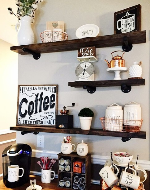 impressive thanksgiving coffee bar ideas #coffeebar #barideas #coffeestation #coffeebarideas