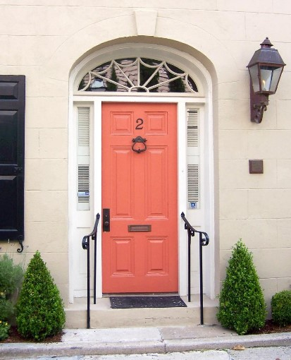 intimidating white house front door #frontdoorcolor #frontdoorpaintcolor #paintcolor