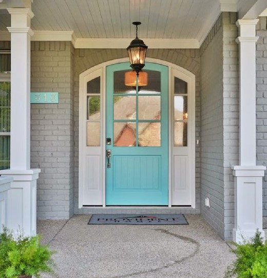 50 best and popular front door paint colors for 2019 - What color door goes with gray house ...