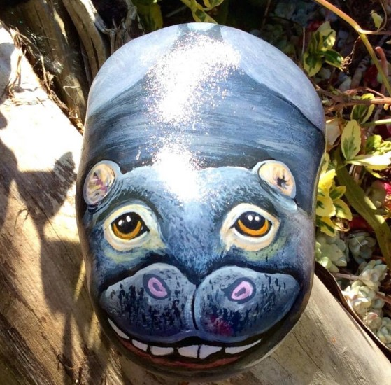 astonishing the art of painting animals on rocks #animalpaintedrock #paintedrock #rockpainting #animalstoneart