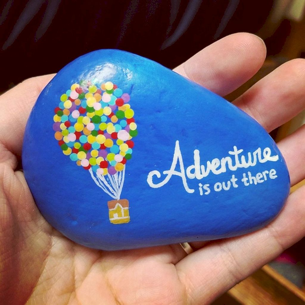 Beauty And Cute Rock Painting Ideas 14