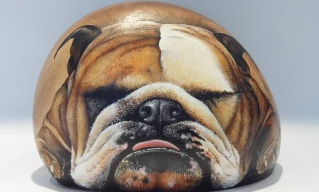 shocking stone art painting #animalpaintedrock #paintedrock #rockpainting #animalstoneart