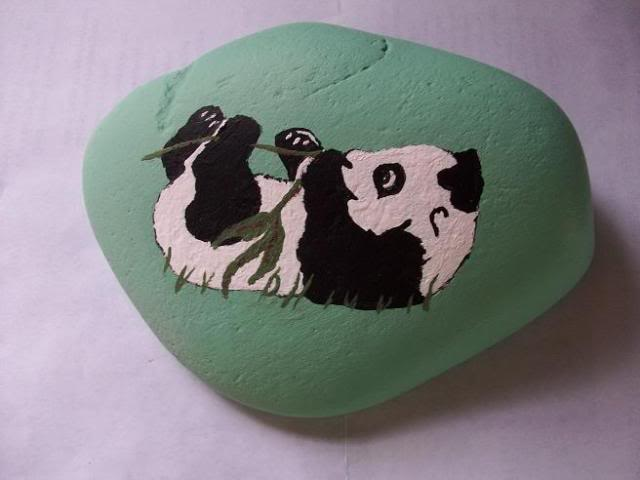 Gorgeous the rock painting #animalpaintedrock #paintedrock #rockpainting #animalstoneart