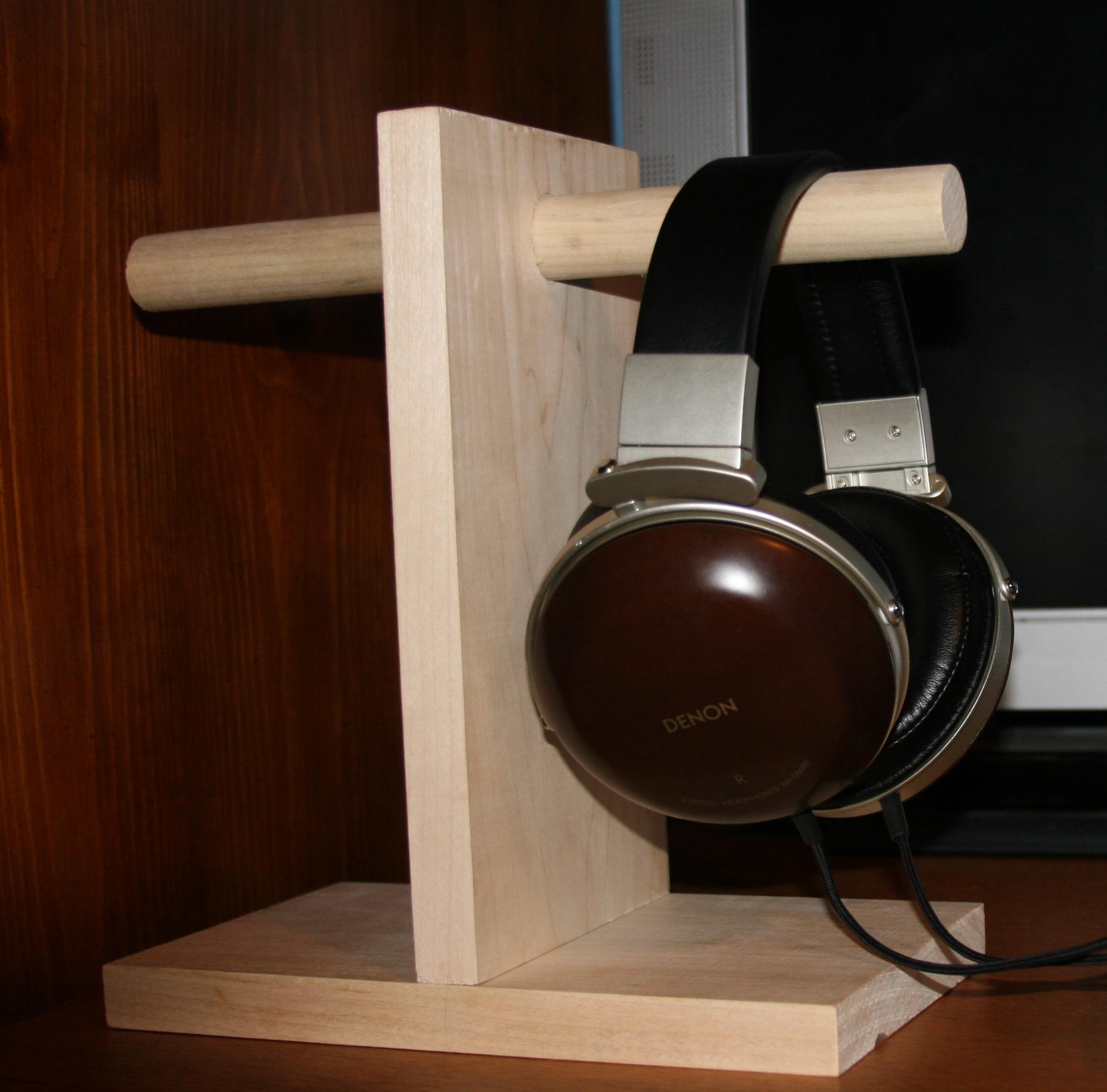 Headphone Stand Designs : Headphone stand diy wood image headphone mvsbc