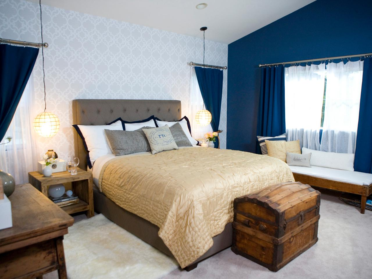 Rustic Blue Accent Wall Bedroom Plusarquitecturainfo Blue Accent