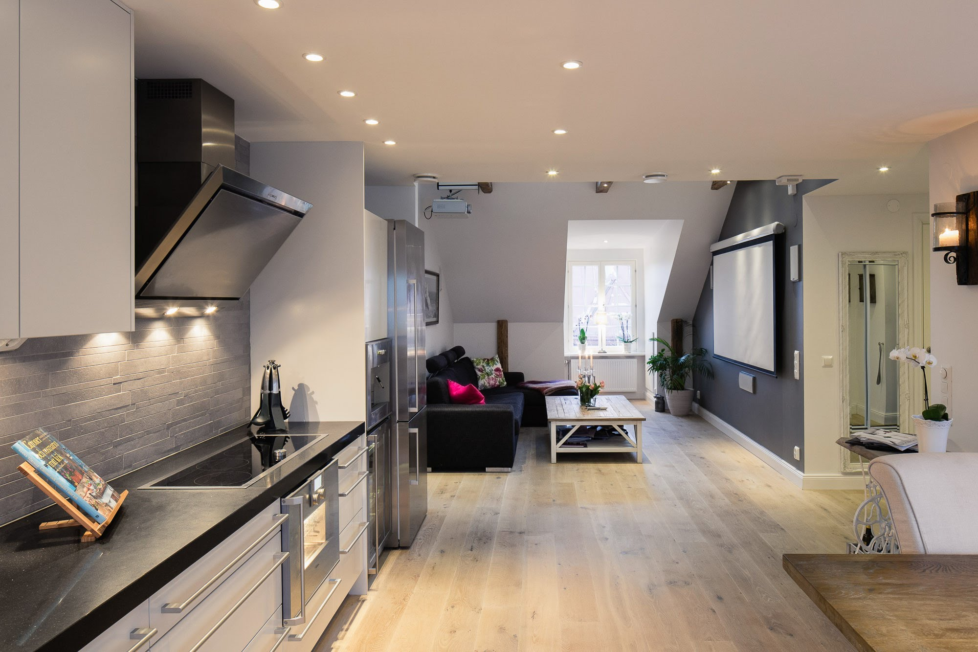 elegant-small-one-bedroom-modern-attic-apartment-with-exposed-wood ...