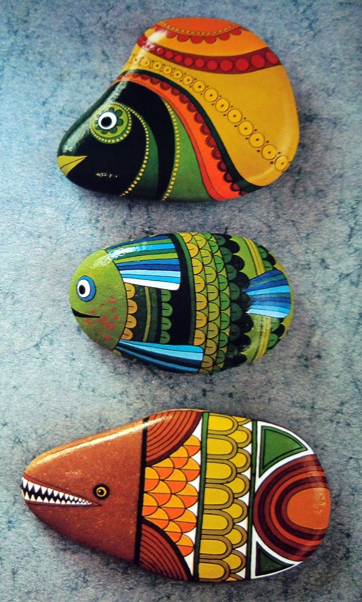 25 Best Fish Painted Rocks Ideas Painting Ideas Projects