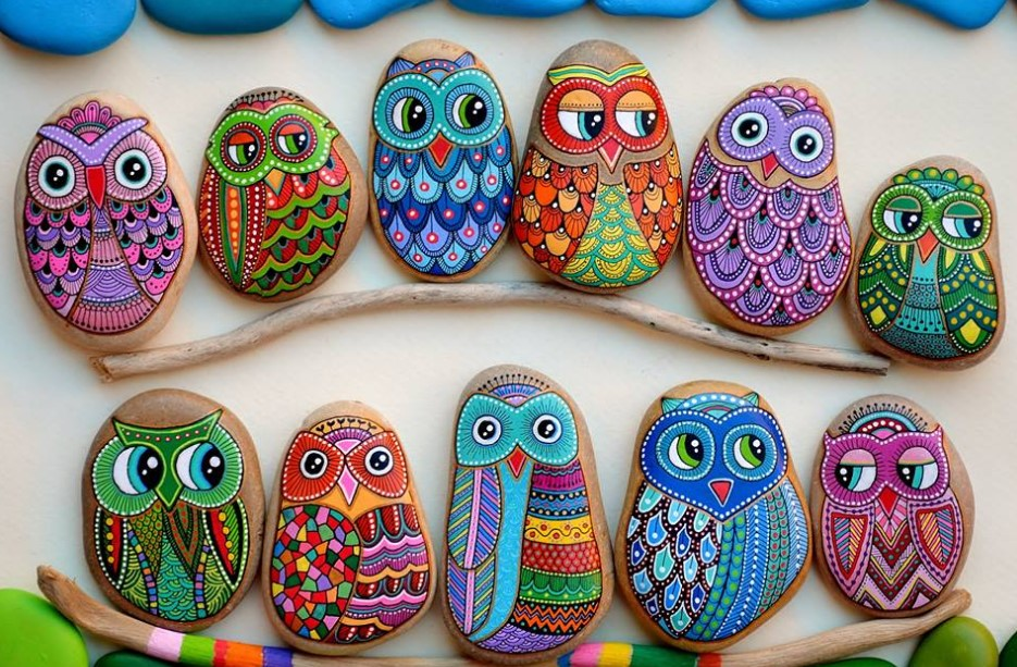 25 Best Owl Painted Rock Ideas