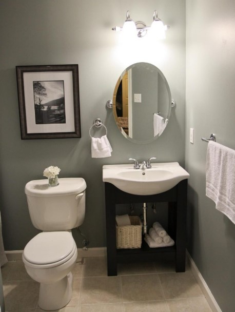 50 Half Bathroom Ideas That Will Impress Your Guests And ... on Small Apartment Bathroom Ideas  id=46172