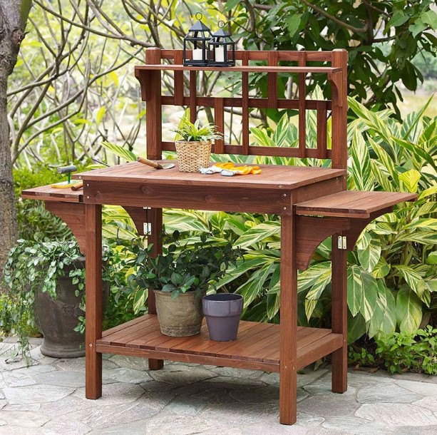 formidable used potting bench #pottingbenchideas #benchdesign #pottingbench #benchideas