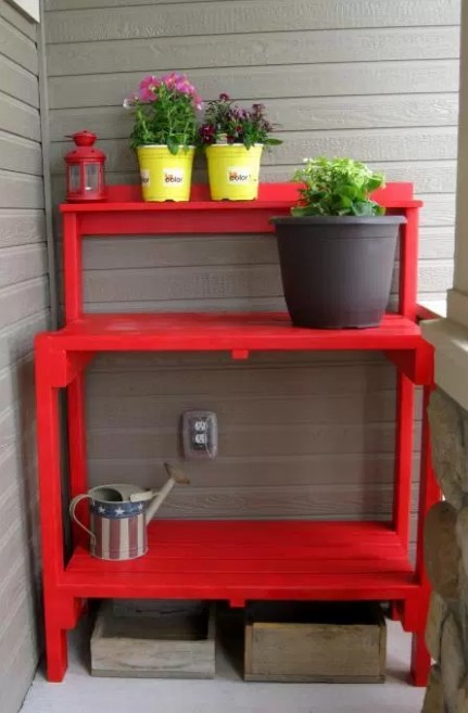 Awesome zinc top potting table #pottingbenchideas #benchdesign #pottingbench #benchideas