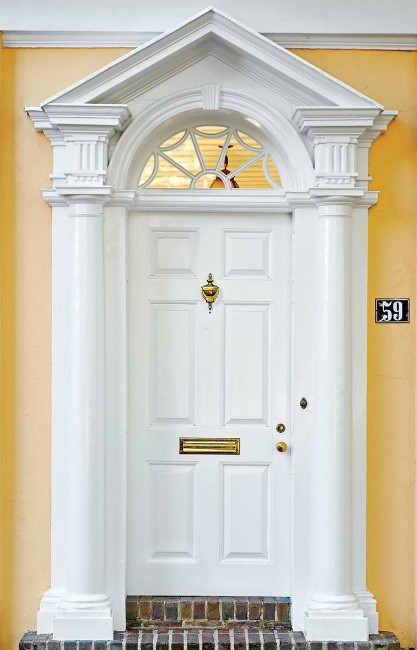 Gorgeous yellow front door paint colors #frontdoorcolor #frontdoorpaintcolor #paintcolor