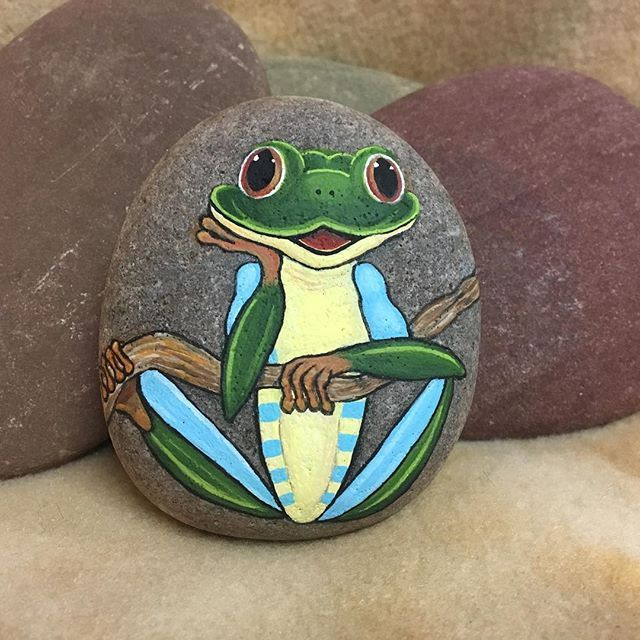 wonderful what kind of paint do you use to paint rocks #animalpaintedrock #paintedrock #rockpainting #animalstoneart