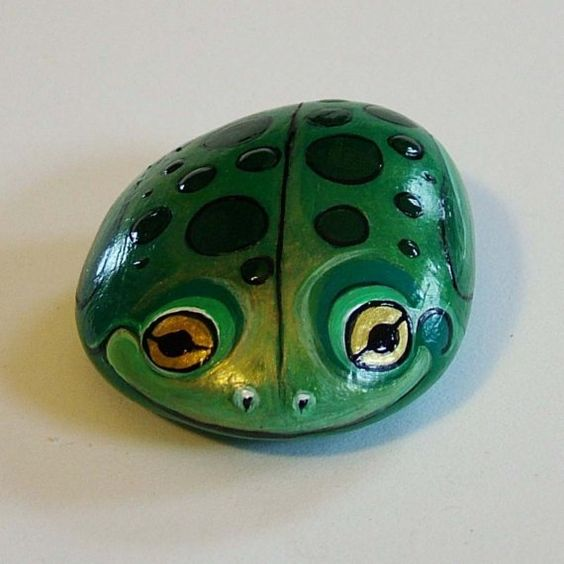 Best what is the best paint to use on rocks #animalpaintedrock #paintedrock #rockpainting #animalstoneart