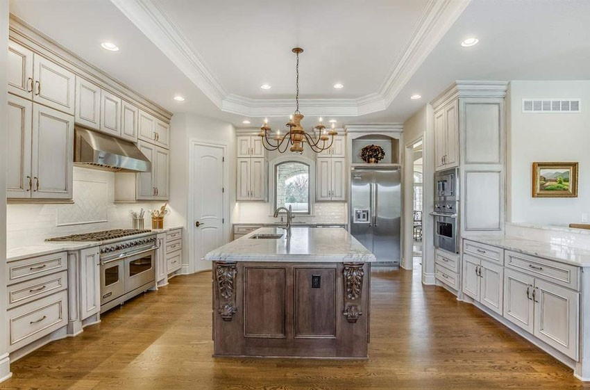 Antique White Cabinets Enhance Your Kitchen