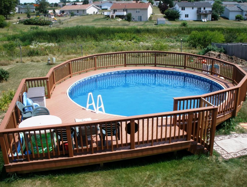 Above Ground Swimming Pool Deck with Bridge - TDF Blog