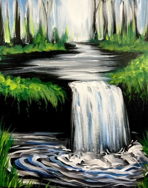 50+ Easy Canvas Painting Ideas for Beginner Images