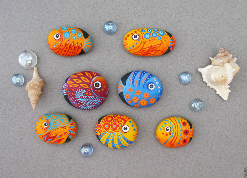 Best Fish Painted Rocks Ideas