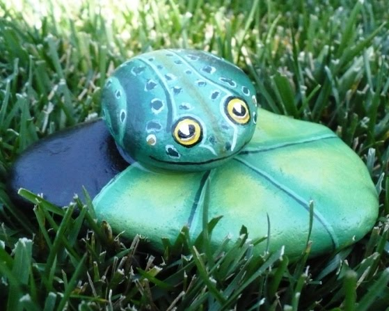 Best Painted Frog Rocks Ideas
