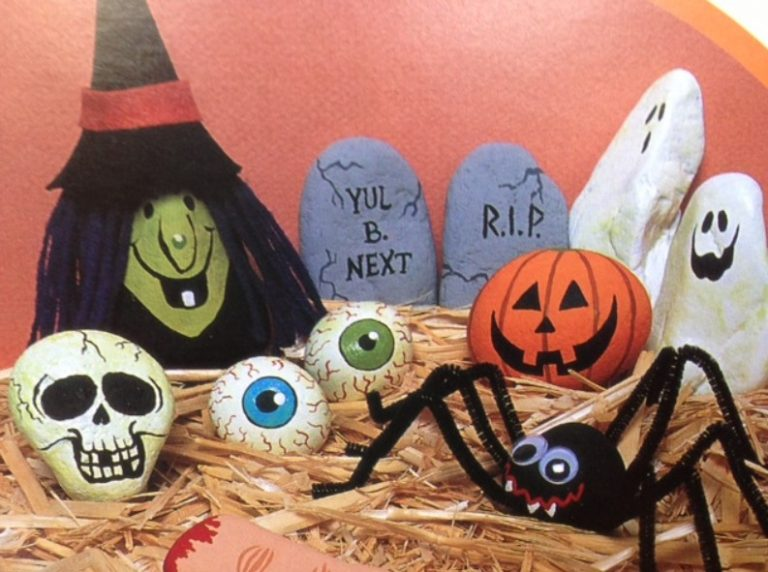 Scary Halloween Painted Rock Ideas