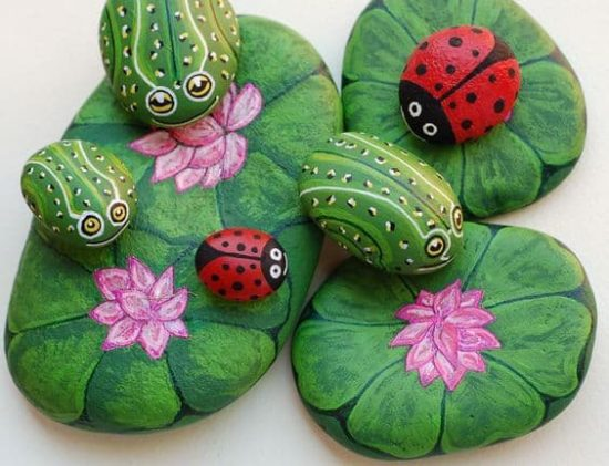 Ladybug Painted Rocks Ideas | How to Make It