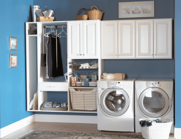 Creative Basement Laundry Room Design for Small Space
