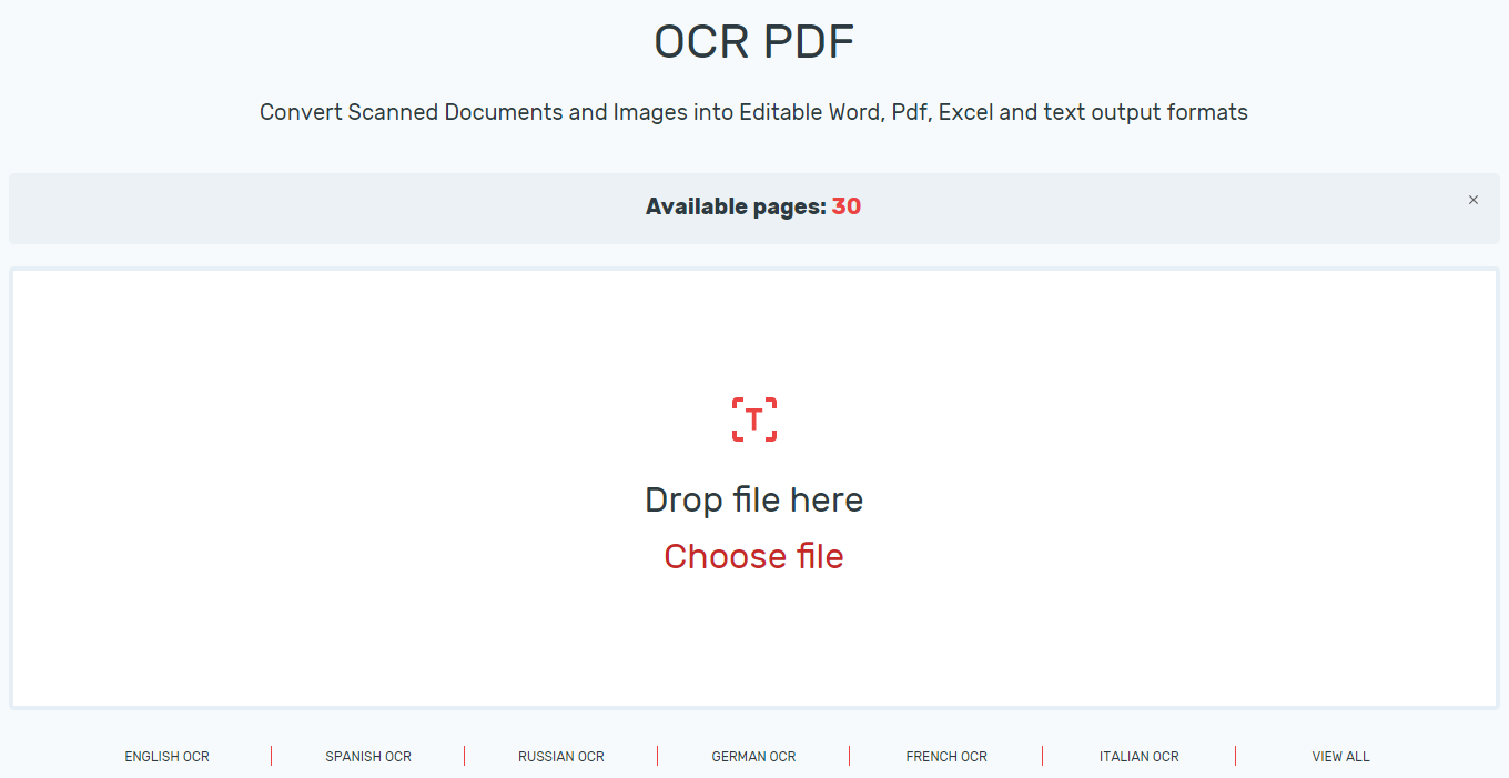 Types of OCR Tools